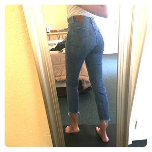 Levi's High waist jeans 27 ankle crop stretch mom